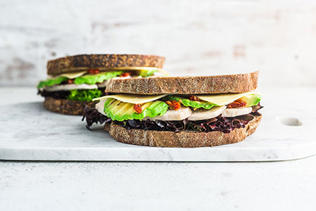 Chicken Avocado on Wholemeal